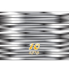 Abstract silver metallic stripes vector