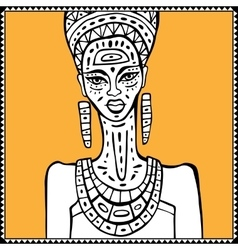 African woman Portrait vector image