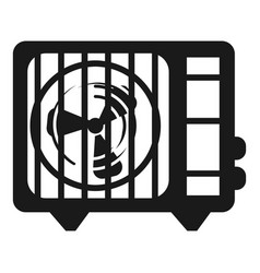 air conditioner fan icon simple style vector image