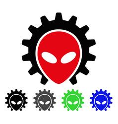 Alien technology flat icon vector