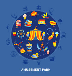 amusement park set vector image