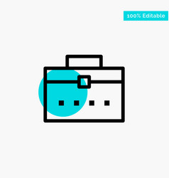 Bag worker bag user interface turquoise highlight vector