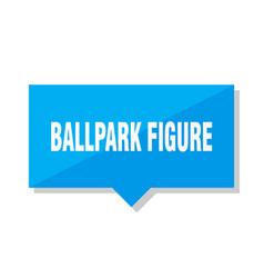 Ballpark figure price tag vector