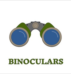 Birdwatching Travel Binocular Outline Icon vector