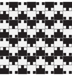 Black White Optical Seamless Pattern Background vector image