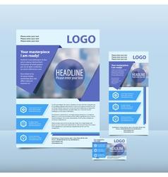 Blue annual report vector