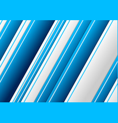 blue grey geometric stripes abstract background vector image
