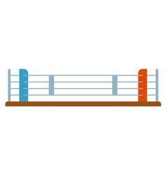 Boxer ring flat isolated sport object on white vector