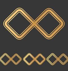 Bronze line infinity icon design set vector