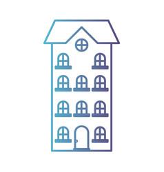 building apartment of four floors gradient color vector image
