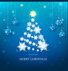 christmas tree greeting card new year tree vector image