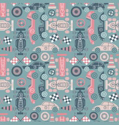 classic sport cars background vector image