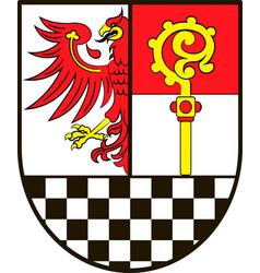 Coat of arms of teltow-flaeming in brandenburg vector