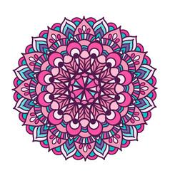 color ornament mandala vector image