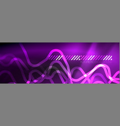 dark neon light glowing template abstract vector image