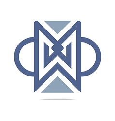 design element letter m triangle semicircle vector image