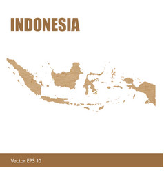Detailed map of indonesia cut out of craft paper vector