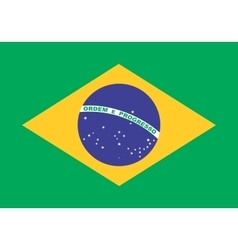 Flag of Brazil in correct proportions and colors vector
