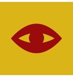 flat icon puffy eye vector image
