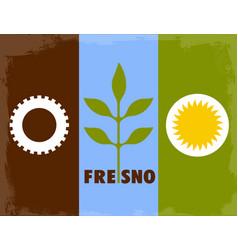 fresno city flag vector image