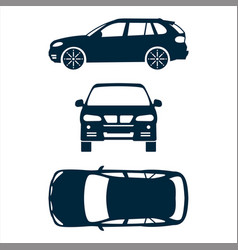 Front top and side car projection vector