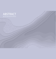 geometric cut paper black luxury background vector image
