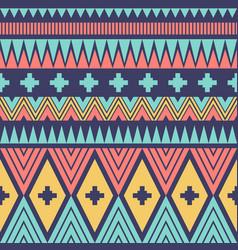 geometric tribal or ethnic seamless pattern design vector image