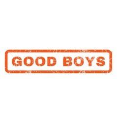 Good Boys Rubber Stamp vector image