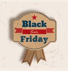 grunge badge for black friday sale vector image