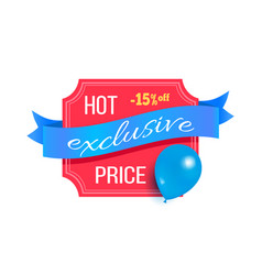 hot price exclusive best discount balloon label vector image
