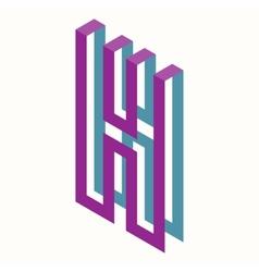 Letter H Logo Icon Design Template Element vector