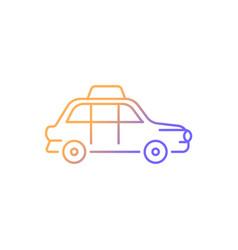 london cab gradient linear icon vector image