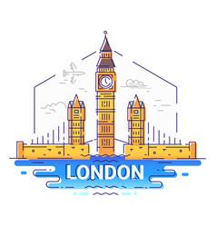 London - modern line travel vector