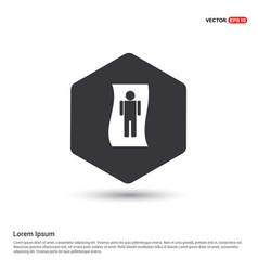 male washroom icon vector image