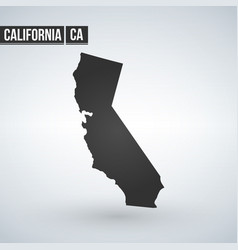 Map us state california vector