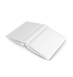 Mockup blank book template for design vector