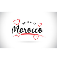 Morocco welcome to word text with handwritten vector