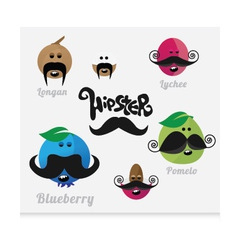 Mustaches HIPSTER vector