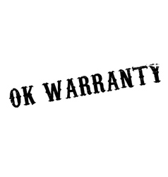 Ok Warranty rubber stamp vector image