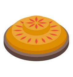 Pastry apple pie icon isometric style vector