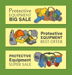 personal protective equipment for safe work vector image