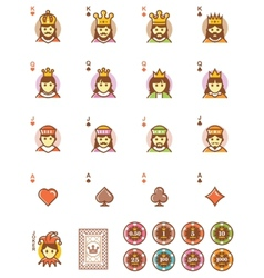 playing cards elements set vector image