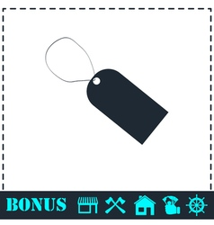 Price tag icon flat vector