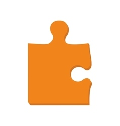 Puzzle game piece part jigsaw icon graphic vector