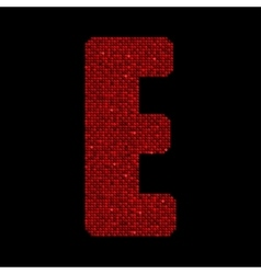 Red sequins sings Sequins alphabet Eps 10 vector