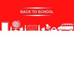 School banner red vector