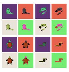 Sea animals stock collection vector