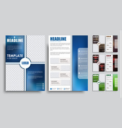 set flyers brochure a4 with empty space for photo vector image