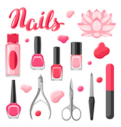 Set of manicure tools vector