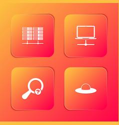 Set server data web hosting computer network vector